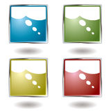 Think button Royalty Free Stock Photography