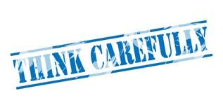 Think carefully blue stamp Stock Image