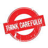Think Carefully rubber stamp Royalty Free Stock Images