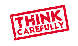 Think Carefully rubber stamp Stock Photography