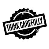 Think Carefully rubber stamp Royalty Free Stock Photos