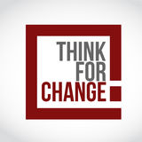 Think for change text box sign illustration Stock Images