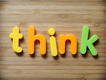 Think concept. Think or education learning concept stock image