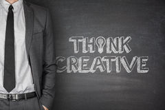 Think Creative on Blackboard Royalty Free Stock Images