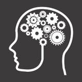 Think,design. Think design over black background vector illustration Royalty Free Stock Image