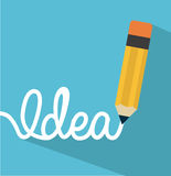 Think,design. Think design over blue background vector illustration Royalty Free Stock Photography
