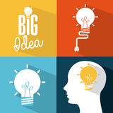 Think,design. Think design over colors background vector illustration Royalty Free Stock Photos