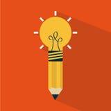 Think,design. Think design over orange background vector illustration Stock Image
