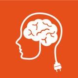 Think,design. Think design over orange background vector illustration Stock Photos