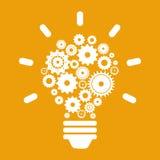 Think design. Over orange background vector illustration Stock Image