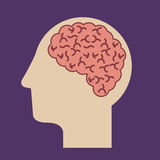 Think design. Over  purple background vector illustration Royalty Free Stock Photos