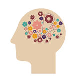 Think design. Over white background vector illustration Royalty Free Stock Photos