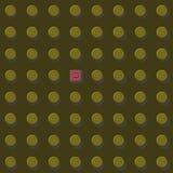 Think differen Grafik der Vektorillustration eps10, Goldgelb Freiheit und entgehen dem Systemkonzept Stockbilder