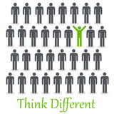 Think different. Be outstanding and unique by thinking different Royalty Free Stock Photos