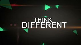 Think Different and Be Creative Looping animation stock footage