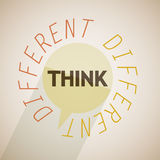 Think different bubble. Abstract design Royalty Free Stock Photo