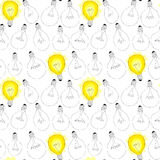 Think Different Bulb Lamps seamless background Royalty Free Stock Image