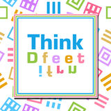 Think Different Colorful Abstract Squares. Think different text written over abstract colorful background Stock Photography