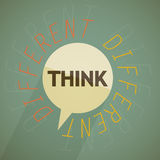 Think different. Concept abstract design Royalty Free Stock Photography