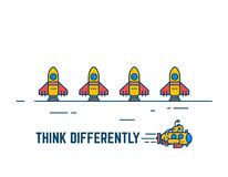Think different concept royalty free illustration