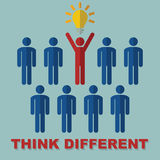 Think different concept Royalty Free Stock Images