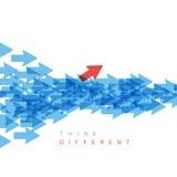 Think different concept illustration stock illustration