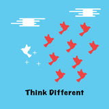 Think different concept Stock Image