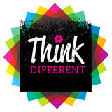 Think Different. Creative Brush Vector Typography Sign Concept Royalty Free Stock Photos