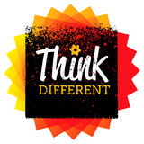 Think Different. Creative Brush Vector Typography Sign Concept Stock Photo