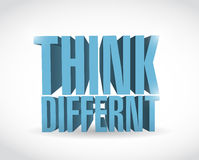 Think different 3d text illustration design Royalty Free Stock Photos