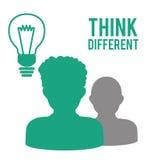 Think different design Stock Photo