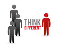 Think different design Stock Photos