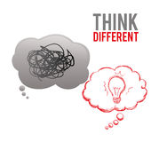 Think different design Stock Photography