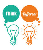 Think different design Stock Image