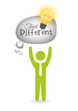 Think different design Royalty Free Stock Images