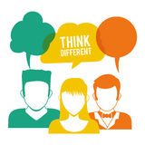Think different design Royalty Free Stock Photography