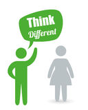 Think different design Royalty Free Stock Image
