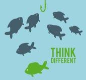 Think different. Design,  illustration eps10 graphic Stock Image