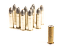 Think different (group of bullets and single bullet Royalty Free Stock Photo