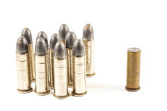 Think different (group of bullets and single bullet Stock Images