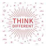 Think different. Inspiring phrase Royalty Free Stock Images