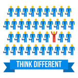 Think different people concept. Vector illustration. Stock Images