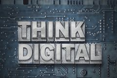 Think digital pc board Royalty Free Stock Image