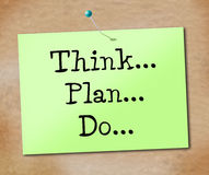 Think Do Indicates Plan Of Action And Agenda Royalty Free Stock Photos