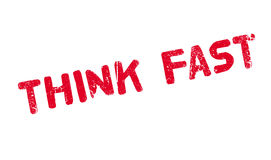 Think Fast rubber stamp Royalty Free Stock Images