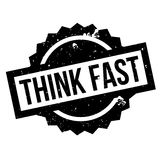 Think Fast rubber stamp Royalty Free Stock Photography