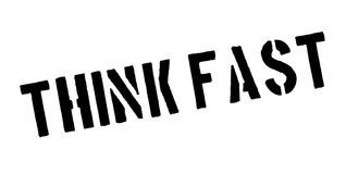Think Fast rubber stamp Stock Photo