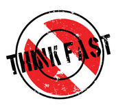 Think Fast rubber stamp Royalty Free Stock Photos