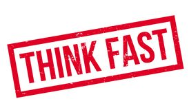 Think Fast rubber stamp Stock Image