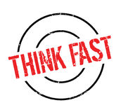 Think Fast rubber stamp Royalty Free Stock Image